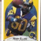 HENRY ELLARD 1990 Fleer #35.  RAMS