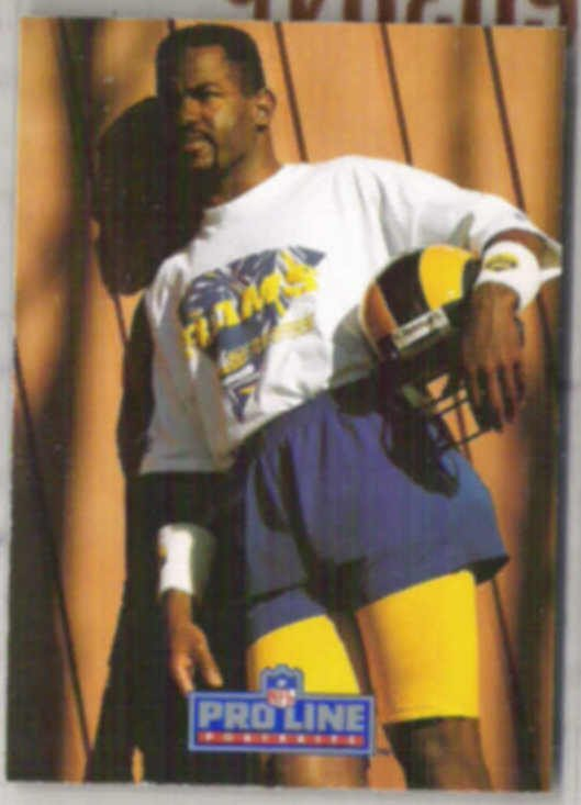 HENRY ELLARD 1991 Pro Line Portraits #158.  RAMS