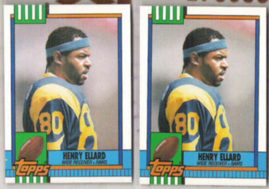 HENRY ELLARD (2) 1990 Topps #72.  RAMS