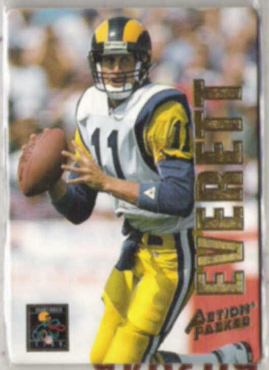 JIM EVERETT 1993 Action Packed QB Club Insert #QB4.  RAMS