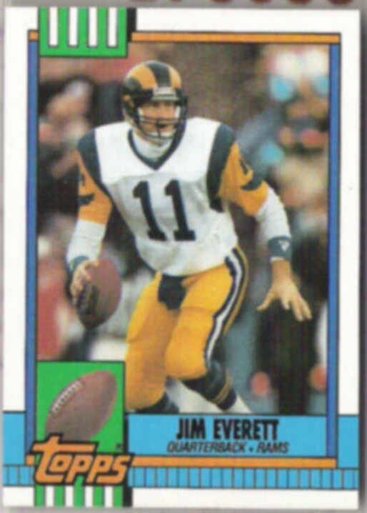 JIM EVERETT 1990 Topps #75.  RAMS
