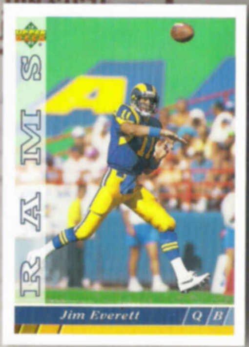 JIM EVERETT 1993 Upper Deck #349.  RAMS
