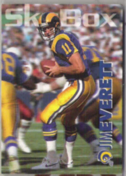 JIM EVERETT 1993 Skybox #165.  RAMS