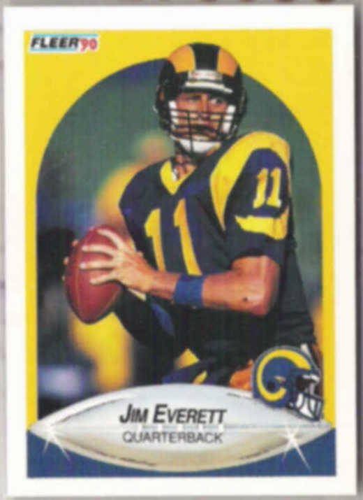 JIM EVERETT 1990 Fleer #36.  RAMS