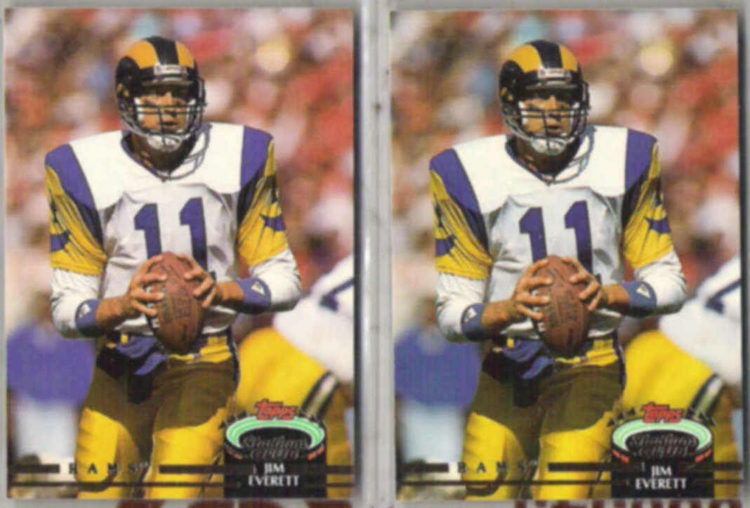 JIM EVERETT (2) 1992 Stadium Club #210.  RAMS