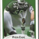 BYRON EVANS 1990 Fleer #83.  EAGLES