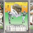 BYRON EVANS (3) 1991 Fleer Ultra #231.  EAGLES