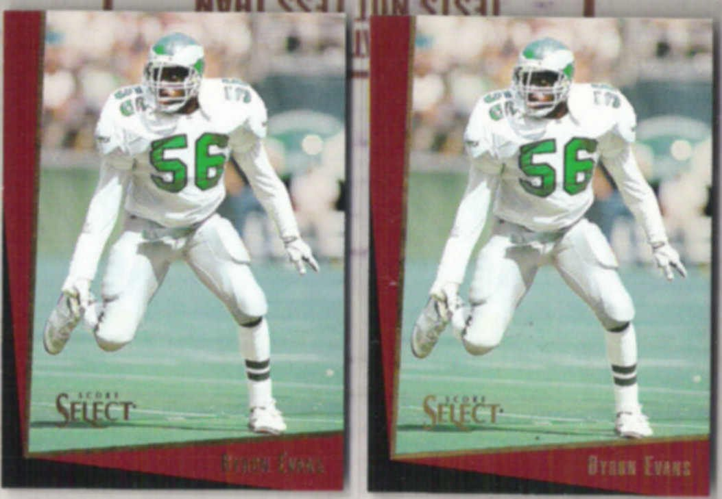 BYRON EVANS (2) 1993 Score Select #106.  EAGLES
