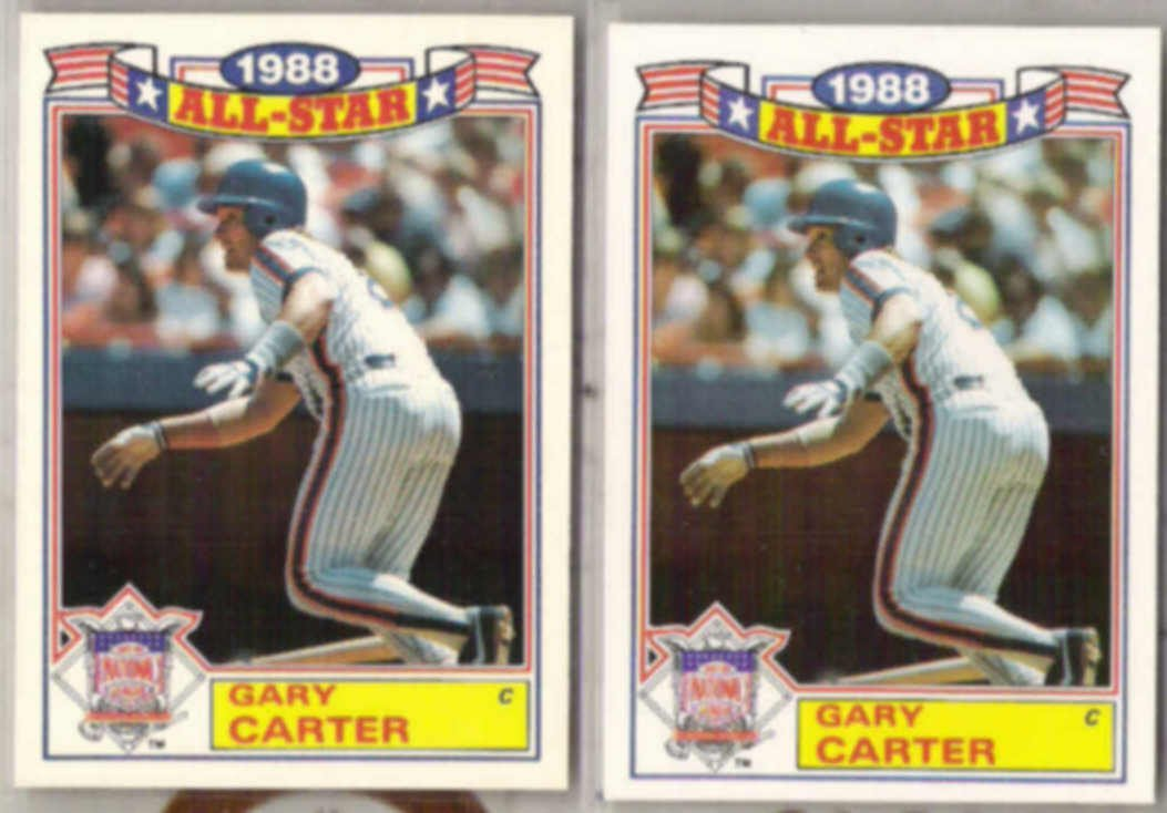 GARY CARTER (2) 1989 Topps AS #20 of 22.  METS