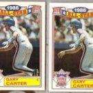 GARY CARTER (2) 1989 Topps AS #20 of 22.  METS