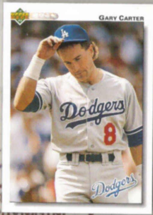 GARY CARTER 1992 Upper Deck #267.  DODGERS