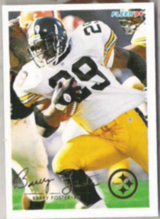 BARRY FOSTER 1994 Fleer #384.  STEELERS