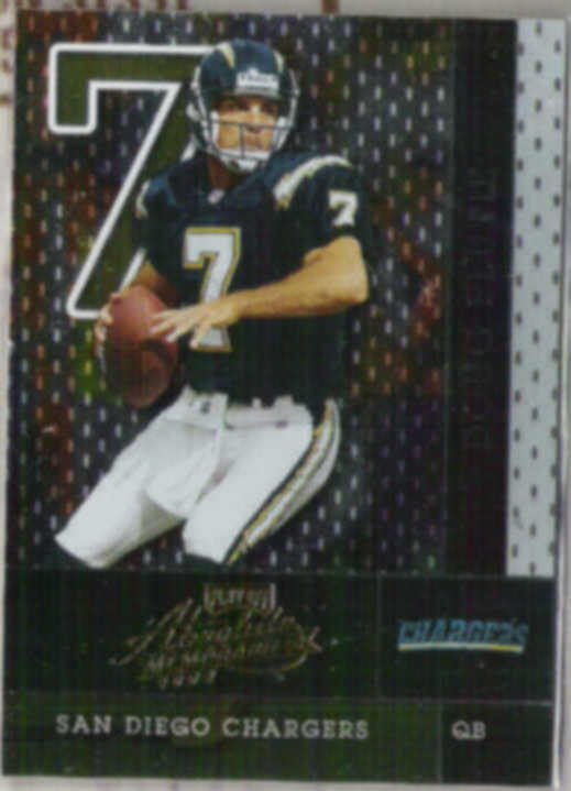 DOUG FLUTIE 2002 Playoff Absolute #39.  CHARGERS