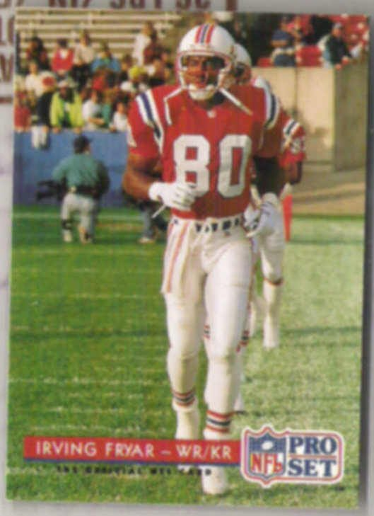 IRVING FRYAR 1992 Pro Set #246.  PATRIOTS