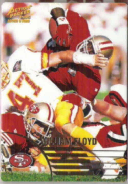 WILLIAM FLOYD 1995 Pinnacle Action Packed #39.  49ers