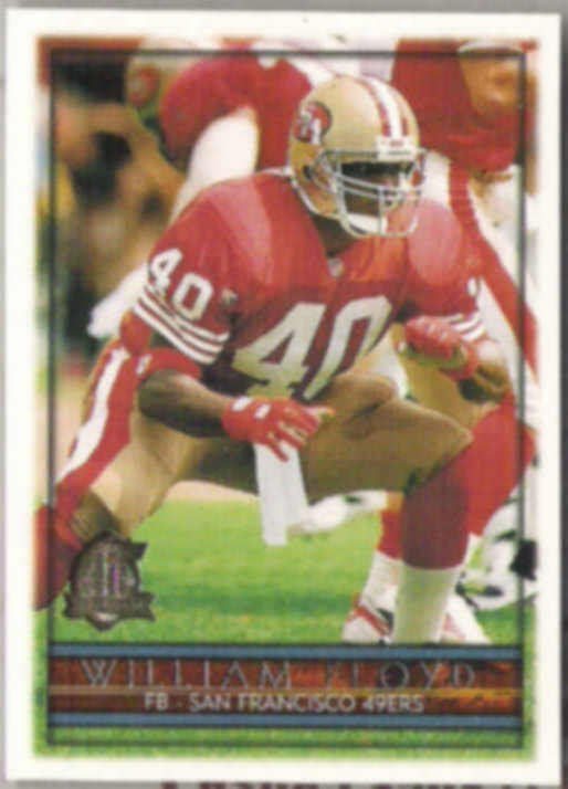 WILLIAM FLOYD 1996 Topps #309.  49ers