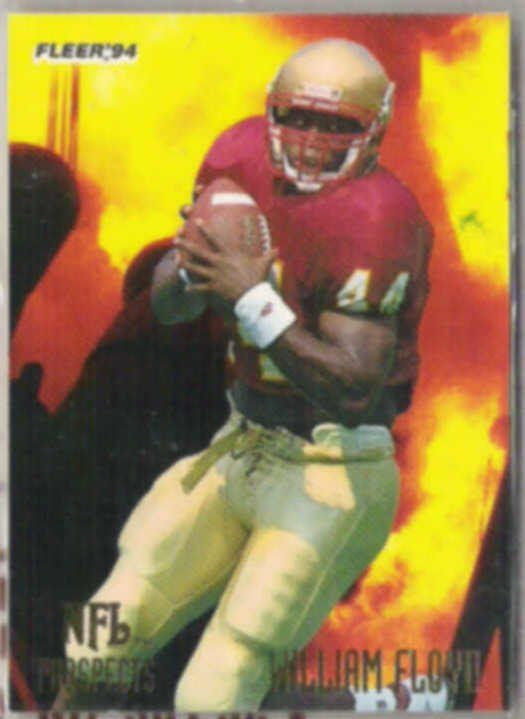WILLIAM FLOYD 1994 Fleer Prospects Insert #8 of 25.  49ers