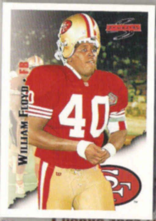 WILLIAM FLOYD 1995 Score #104.  49ers