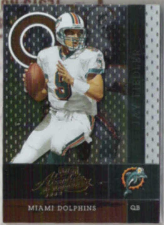 JAY FIEDLER 2002 Playoff Absolute #63.  DOLPHINS