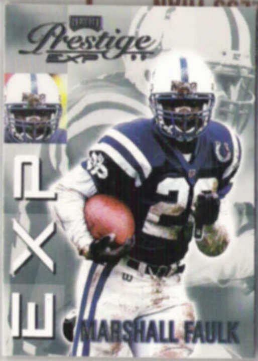 MARSHALL FAULK 1999 Playoff Prestige EXP #EX85.  RAMS
