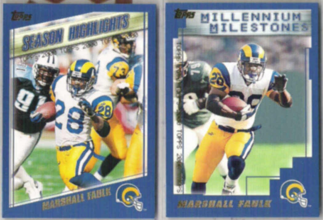 MARSHALL FAULK (2) 2000 Topps #325 + #340.  COLTS