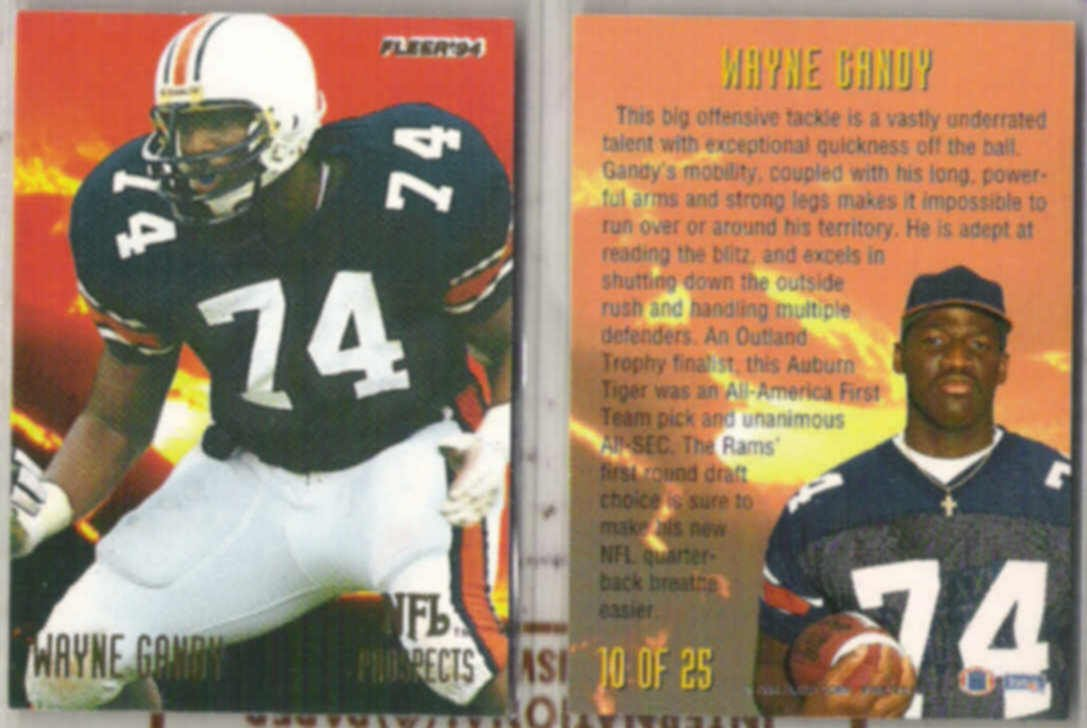 WAYNE GANDY (2) 1994 Fleer Prospects Insert #10 of 25.  RAMS