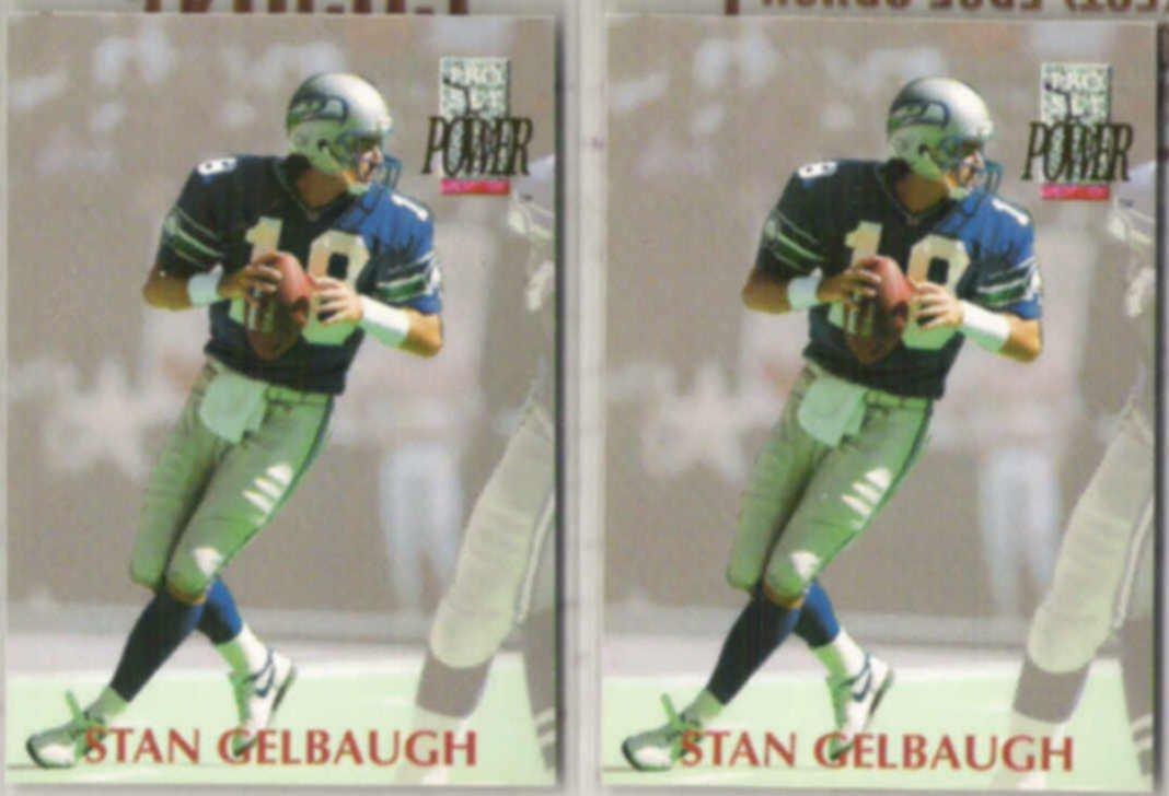 STAN GELBAUGH (2) 1992 Pro Set Power #118.  SEAHAWKS