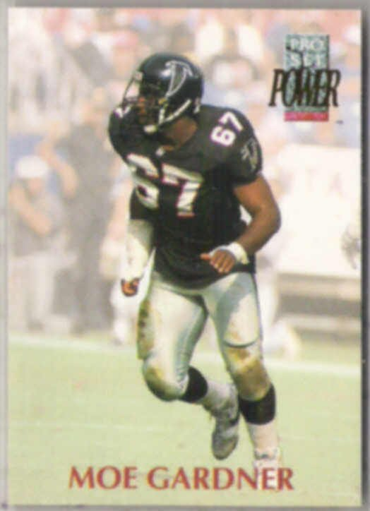 MOE GARDNER 1992 Pro Set Power #167.  FALCONS