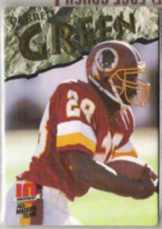 DARRELL GREEN 1993 AP All Madden #8.  REDSKINS