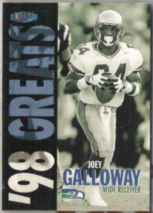 JOEY GALLOWAY 1998 Fleer Ultra Greats #375.  SEAHAWKS