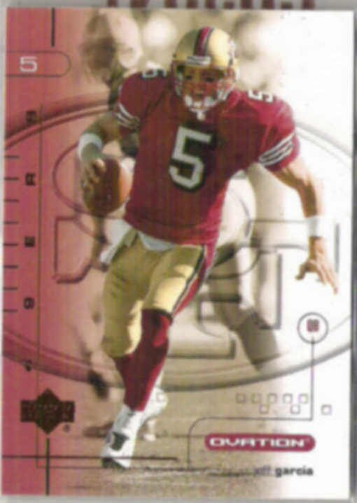 JEFF GARCIA 2001 Upper Deck Ovation #77.  49ers