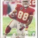 TONY GONZALEZ 2000 Fleer Focus #55.  CHIEFS