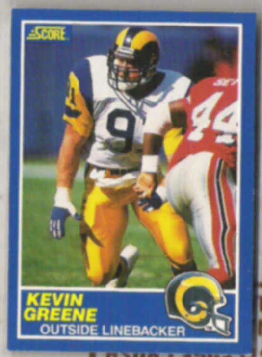 KEVIN GREENE 1989 Score #103.  RAMS