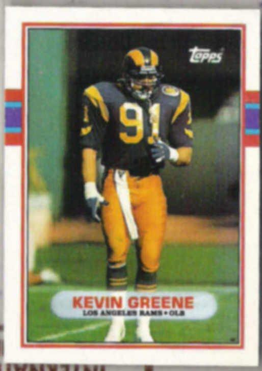 KEVIN GREENE 1989 Topps #134.  RAMS