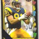 KEVIN GREENE 1991 Wild Card 5-Stripe Ins. #153.  RAMS