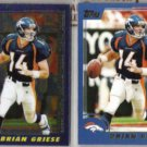 BRIAN GRIESE 2000 Topps Chrome w/ sister.  BRONCOS