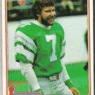RON JAWORSKI 1981 Topps #280.  EAGLES