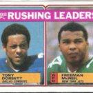 TONY DORSETT 1983 Topps #204 w/ Freeman McNeil. Clean / Sharp