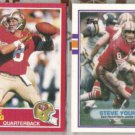 STEVE YOUNG 1989 Topps Traded + 1989 Score.  49ers