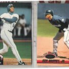 KEN GRIFFEY JR 1992 + 93 Stadium Club.  MARINERS