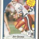 JEFF GEORGE 1990 Fleer Draft #347.  COLTS