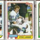 STEVE LARGENT 1981, 82 + 88 Topps.  SEAHAWKS