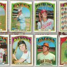 1972 Topps Baseball (8) Card (off-center) Lot in Nice Shape.