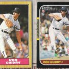 RON GUIDRY 1987 Topps #375 + Donruss #93.  YANKEES