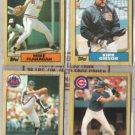 MIKE FLANAGAN / KIRK GIBSON / BOB OJEDA / TITO (4) 1987 Topps