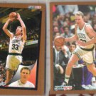 LARRY BIRD (2) 1992 Fleer #11 + #256. CELTICS