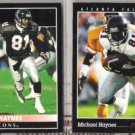 MICHAEL HAYNES 1992 + 1993 Pinnacle.  FALCONS