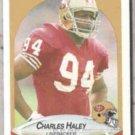 CHARLES HALEY 1990 Fleer #7.  49ers