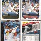 BERNIE WILLIAMS (4) Card Lot w/ 1993 GOLD + Team 2000++