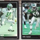 SETH JOYNER 1992 + 1993 Pinnacle.  EAGLES